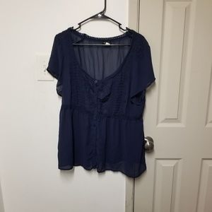 Torrid babydoll style button up top